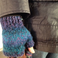 Chunky Fingerless Mitts