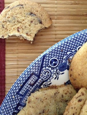 Unsweetened Chocolate Chip Cookies