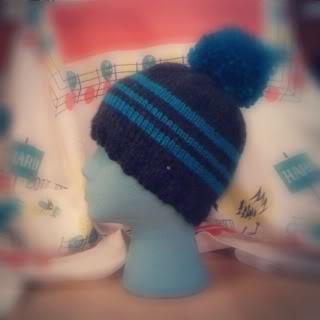 Simple Striped Winter Hat Pattern