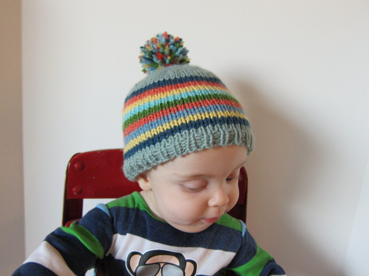 Striped Baby Hat -- Free Pattern