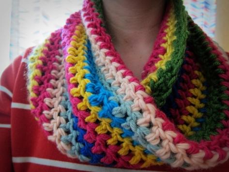 Crochet Candyland Cowl
