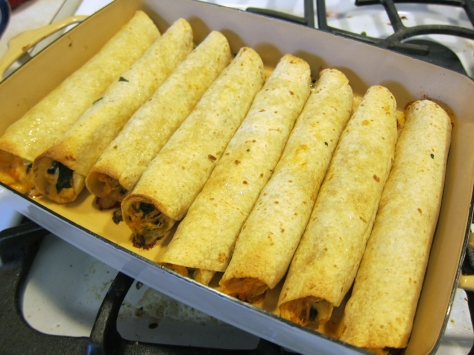 Chicken Taquitos with Spinach & Wild Rice