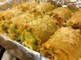 Pesto Chicken Lasagna Roll Ups