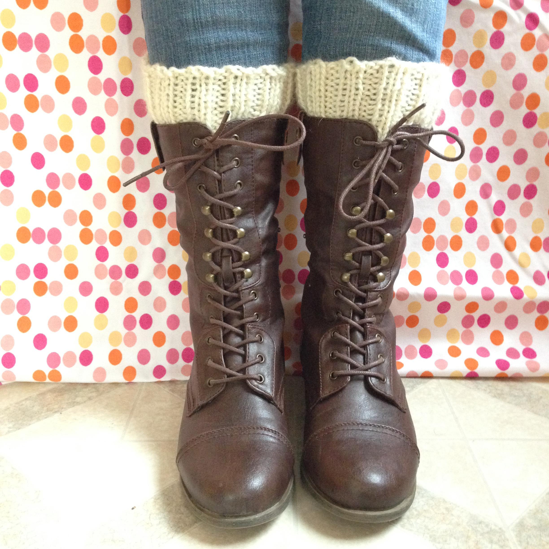 Simple Knitted Boot Cuffs Alaska Knit Nat