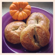 Pumpkin Rosemary Bagels