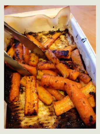 Roasted Carrots in a Honey Dijon Rosemary Glaze