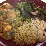 Chicken & Mushrooms with Collard Greens
