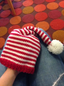 Baby Candy Cane Stocking Cap — Free Pattern | Alaska Knit Nat