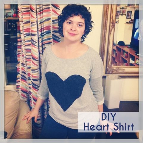 Quick Craft: DIY Heart Shirt | Alaksa Knit Nat