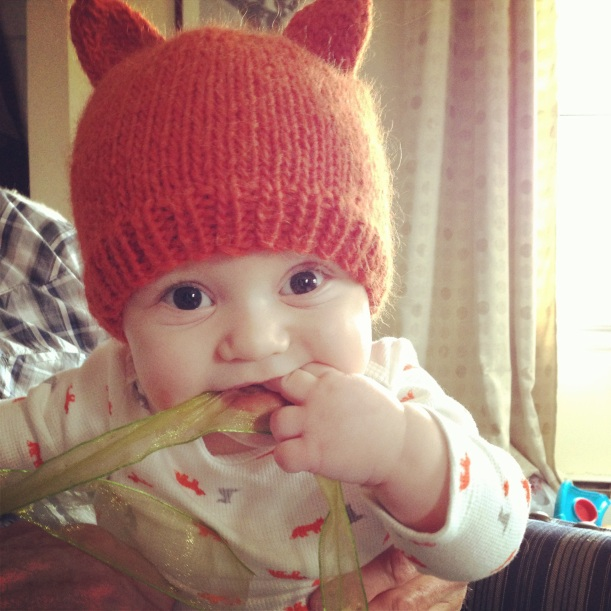 Simple Fox Hat -- Free Pattern