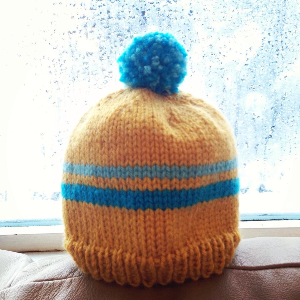 Knit Nat: Retro Baby Ski Hat -- Free Pattern