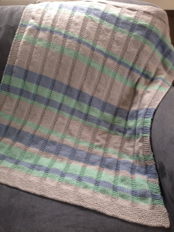 Simple Striped Baby Blanket -- Free Pattern