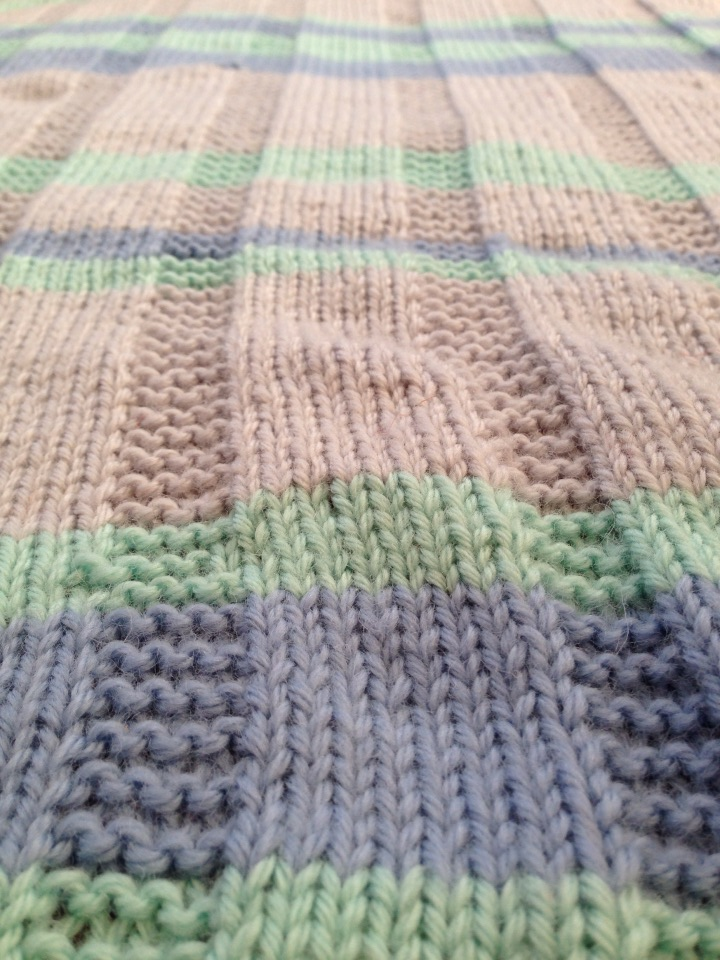 Simple Striped Baby Blanket Free Pattern Alaska Knit Nat