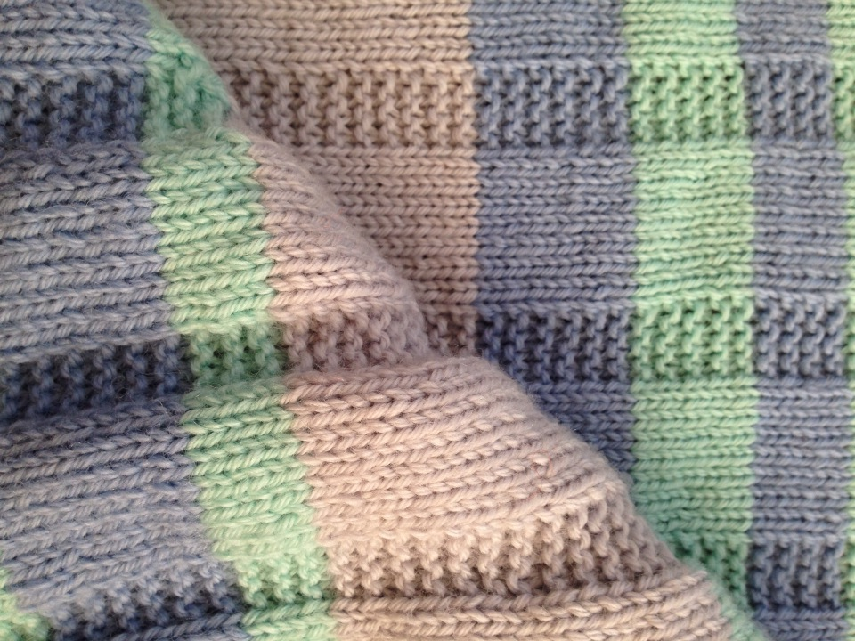 Knitting Pattern For Baby Blanket : Simple Striped Baby Blanket   Free Pattern Alaska Knit Nat