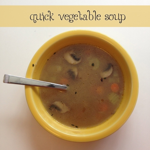 Quick Homemade Vegetable Soup | Alaska Knit Nat