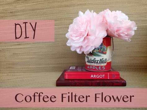 DIY Coffee Filter Flowers -- A step-by-step guide from Alaska Knit Nat