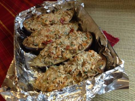 Chicken-stuffed Eggplant | Alaska Knit Nat