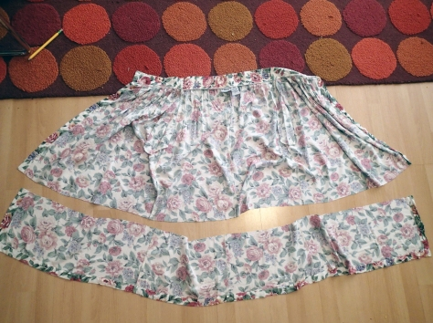 Thrift Store Skirt Refashion -- go from bake sale mom to hipster mom in less than an hour!