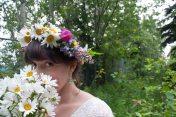 Wildflower crown   Alaska Knit Nat