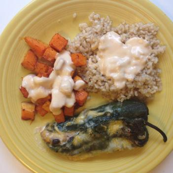Chiles Rellenos with Smoky Cream Sauce | Alaska Knit Nat