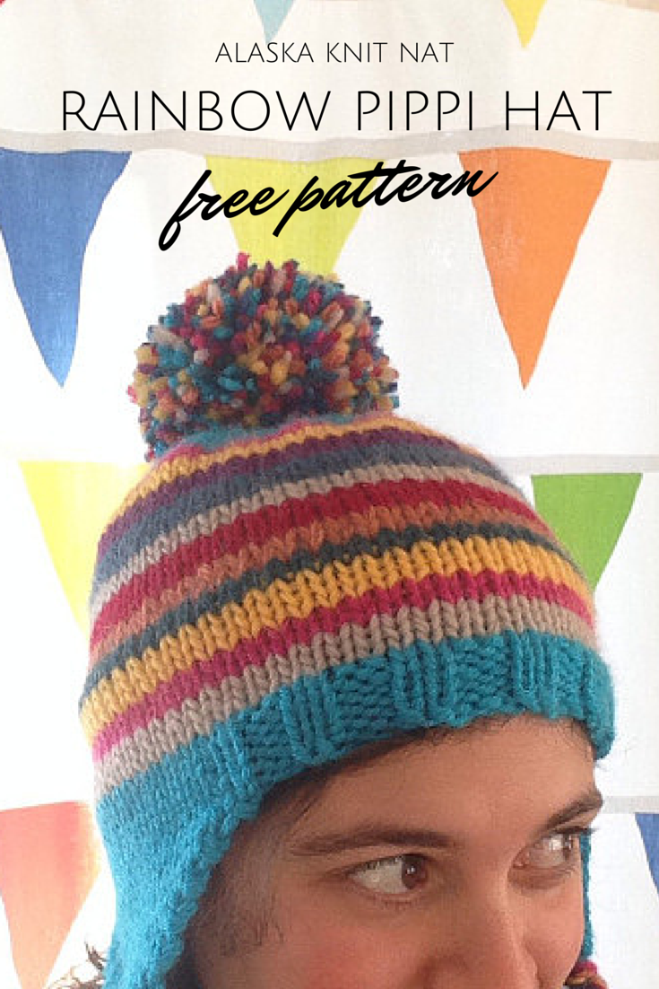 Rainbow Pippi Hat — A Free Pattern | Alaska Knit Nat