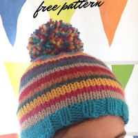 Rainbow Pippi Hat -- A Free Pattern