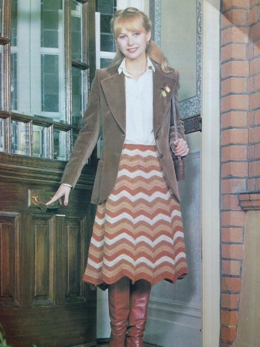 Retro Crochet Chevron Skirt   Free Pattern from Alaska Knit Nat