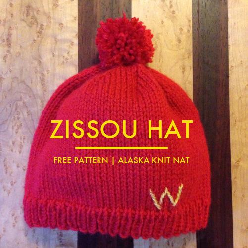 Zissou Hat | A free knitting pattern from Alaska Knit Nat