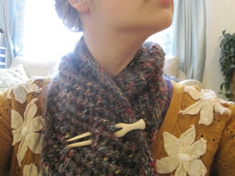 Knitted Harlequin Cowl | A free pattern from Alaska Knit Nat