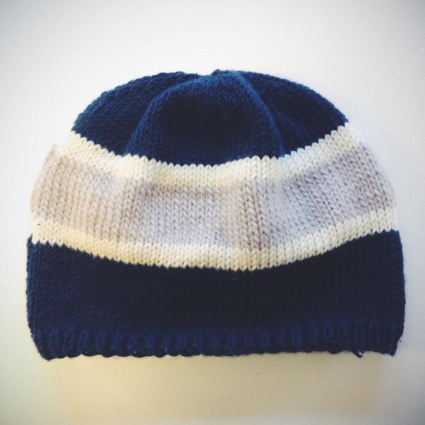 Sports Team Hat | A free knitting pattern from Alaska Knit Nat