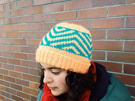 Zig Zag Chevron Hat | A Free Pattern from Alaska Knit Nat