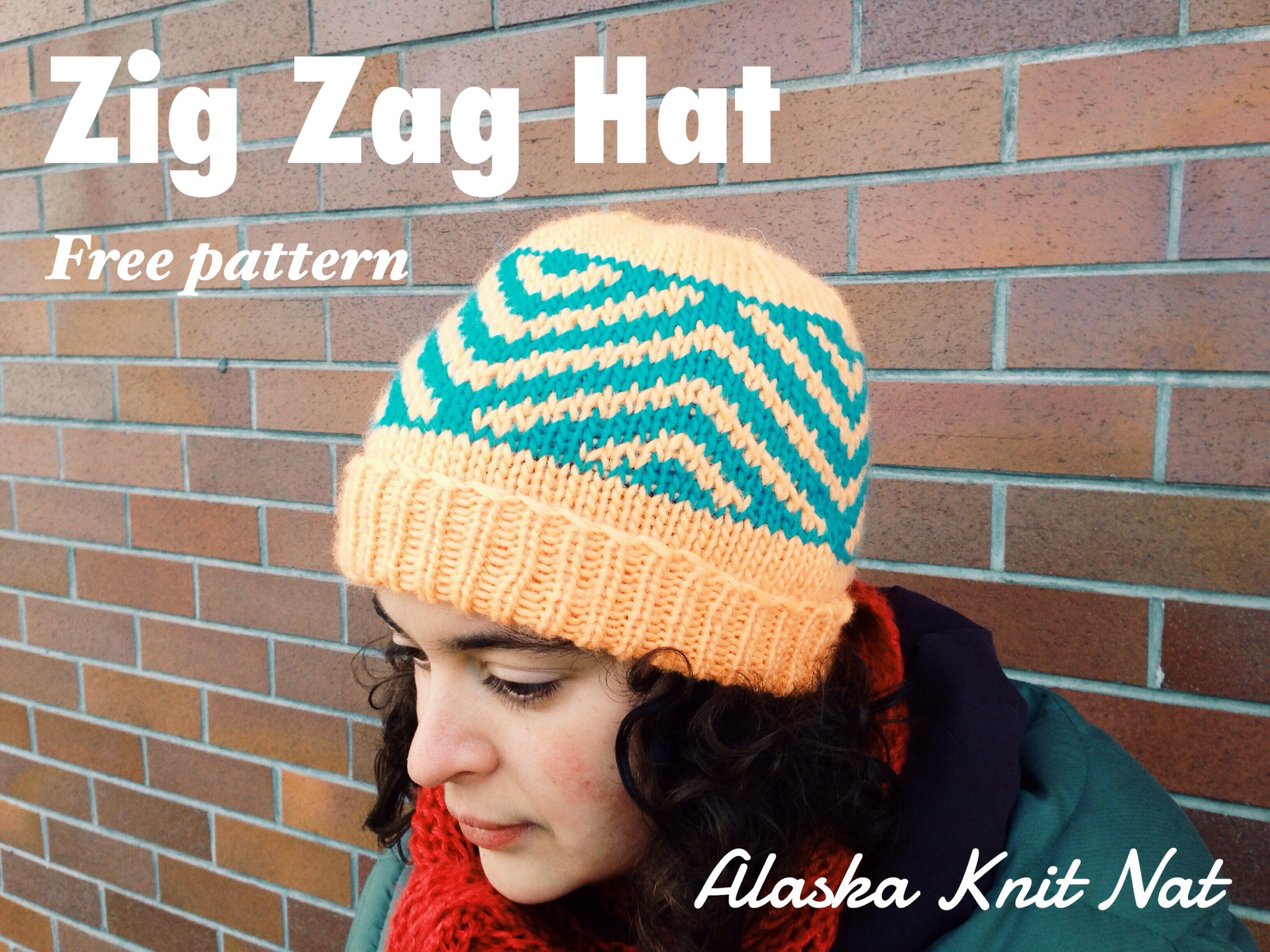 Knit Zig Zag Hat Pattern : Zig zag chevron hat — a free knitting pattern alaska