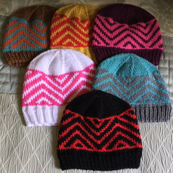 Zig Zag Chevron Hat A Free Knitting Pattern Alaska Knit Nat