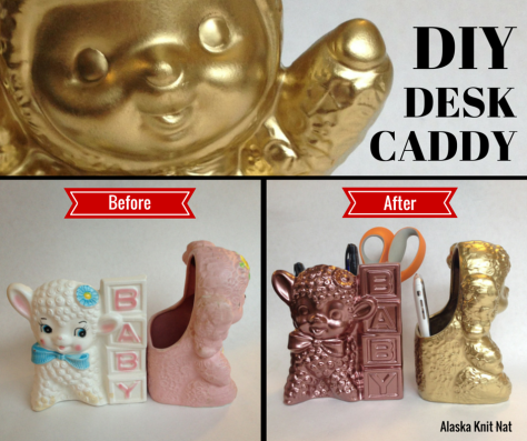 DIY Kitschy Desk Caddies | #5 on Alaska Knit Nat's DIY Holiday Craft Guide