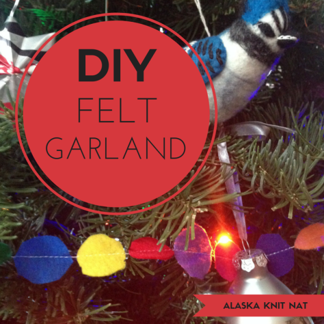 DIY Felt Tree Garland | #6 on Alaska Knit Nat's DIY Holiday Craft Guide