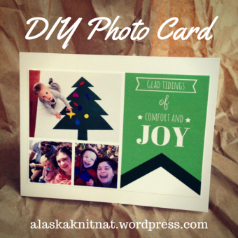 DIY Photo Christmas Card | A DIY Holiday Guide from Alaska Knit Nat