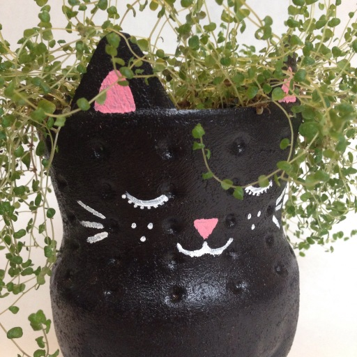 DIY Soda Bottle Kitty Planter | #4 on Alaska Knit Nat's DIY Holiday Craft Guide