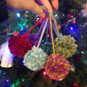 Pompom ornaments | #10 on Alaska Knit Nat's DIY Holiday Craft Guide