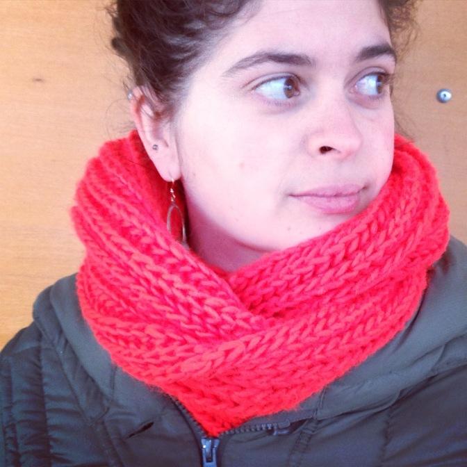 Big, Fluffy Brioche Cowl — A Free Knitting Pattern