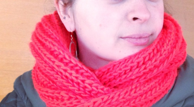 Big, Fluffy Brioche Cowl — A Free Knitting Pattern