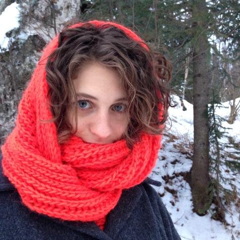Big, Fluffy Brioche Cowl | A Free Knitting Pattern from Alaskaknitnat.com