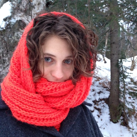 Big, Fluffy Brioche Cowl | A Free Knitting Pattern from Alaskaknitnat.com