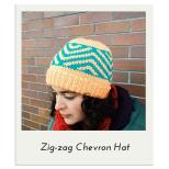 Zig-Zag Chevron Hat