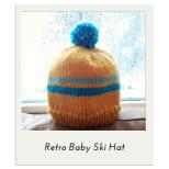 Retro Baby Ski Hat