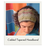 Cabled Tapered Headband