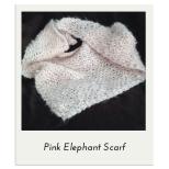 Pink Elephant Scarf
