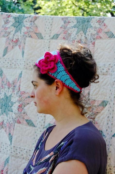 Tapered flower headband   A Free Crochet Pattern from Alaska Knit Nat