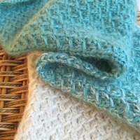 Fuzzy Ombre Scarflet -- A Free Knitting Pattern