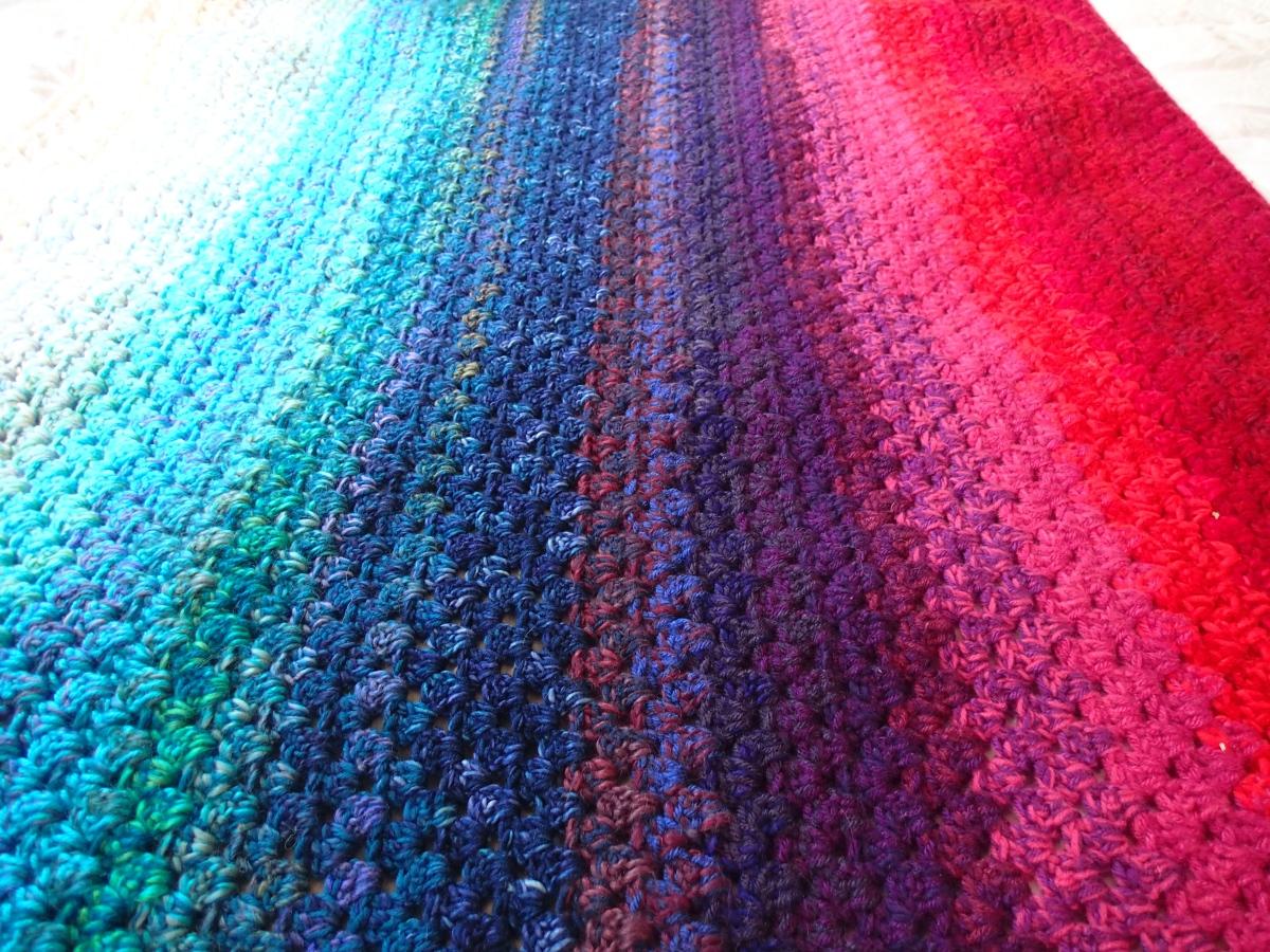 Free Knitting Pattern For Memory Blanket : Northern Lights Memory Blanket   A free crochet pattern Alaska Knit Nat