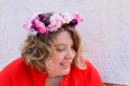 Silk flower crowns available at my Etsy store: AlaskaKnitNat